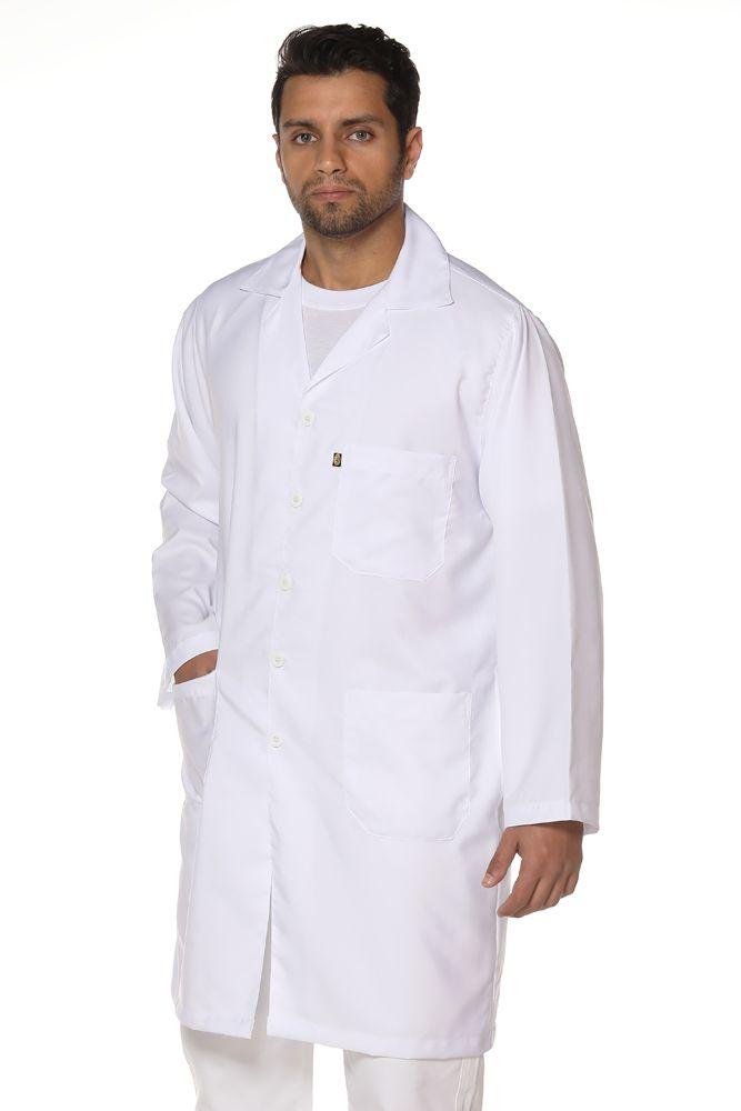Jaleco masculino manga longa em Algodão