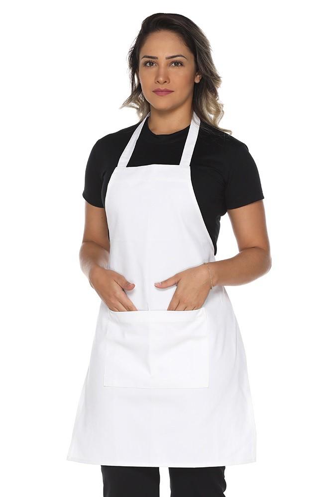Kit 2 Aventais de cozinha com bolso