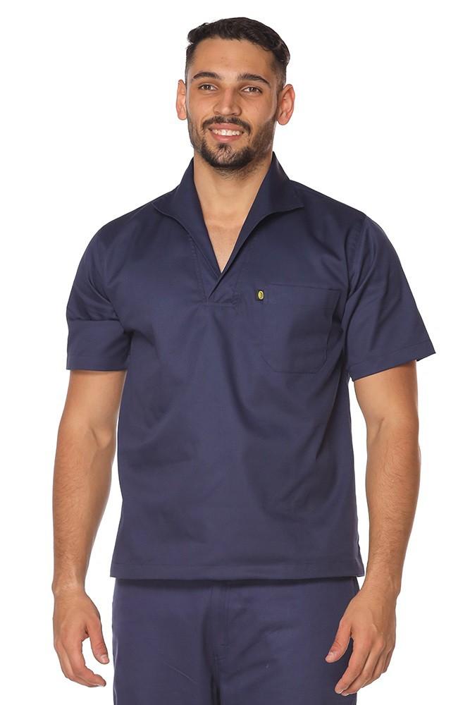 Kit 2 Camisas Masculina Gola Italiana Brim