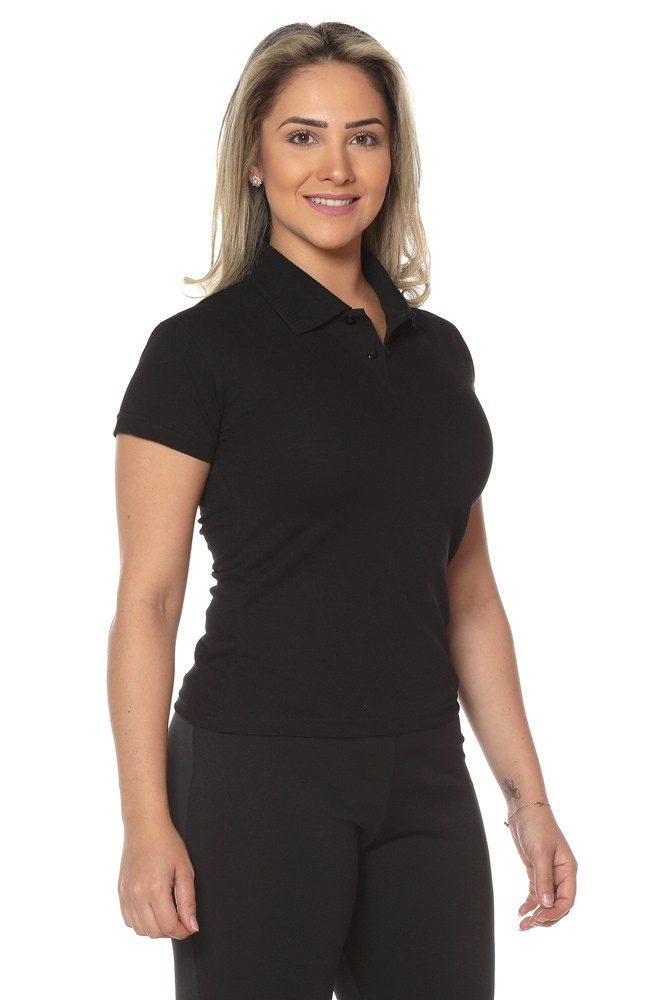 Kit 2 Camisas Polo feminina baby look