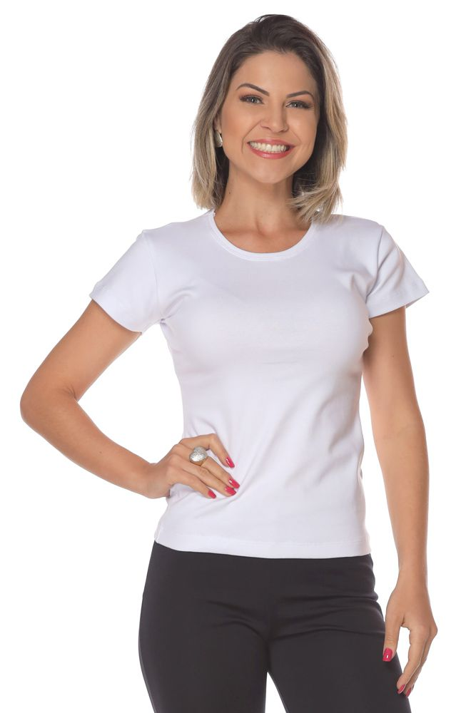 Kit 2 Camisetas baby look ribana
