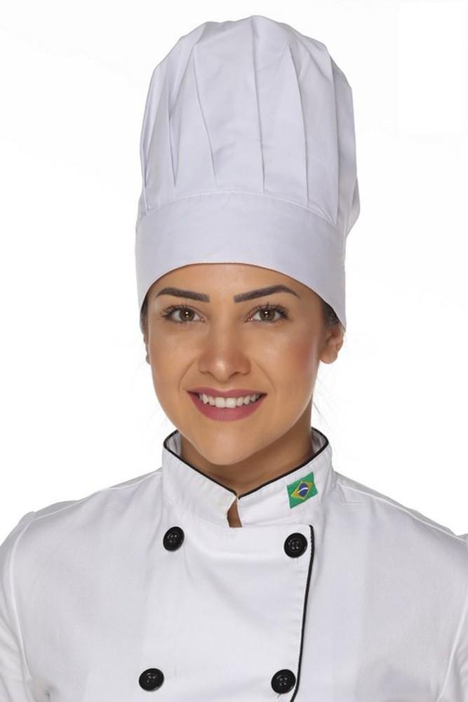 Kit 2 Chapéus de Cozinheiro (a) com elástico