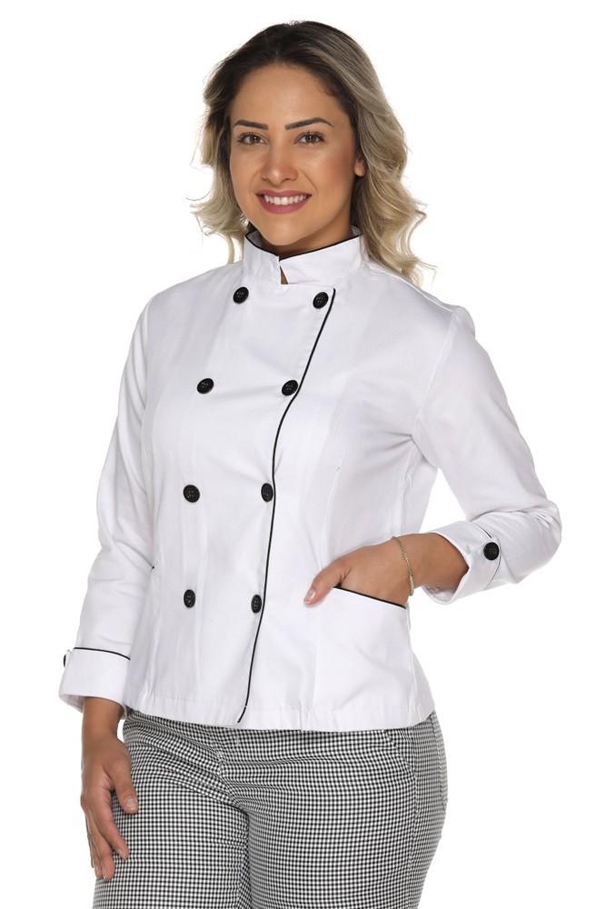 Kit 2 Dolmãs chef cozinha feminino Algodão