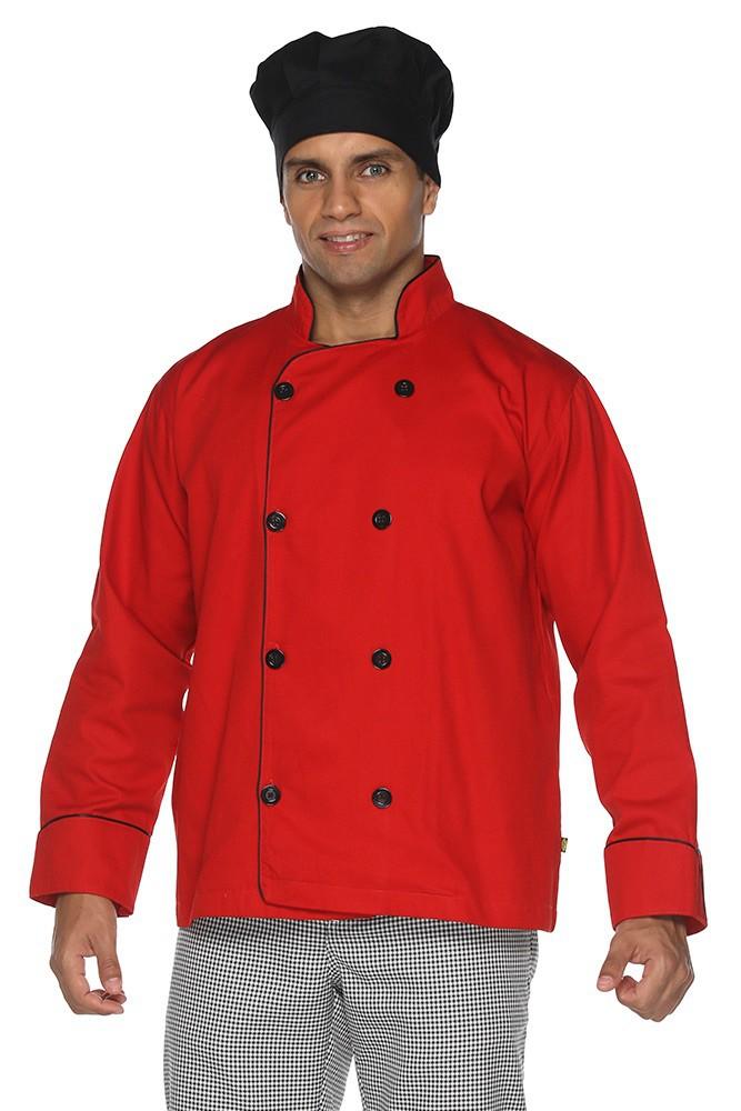 Kit 2 Dolmãs chef cozinha masculino Algodão