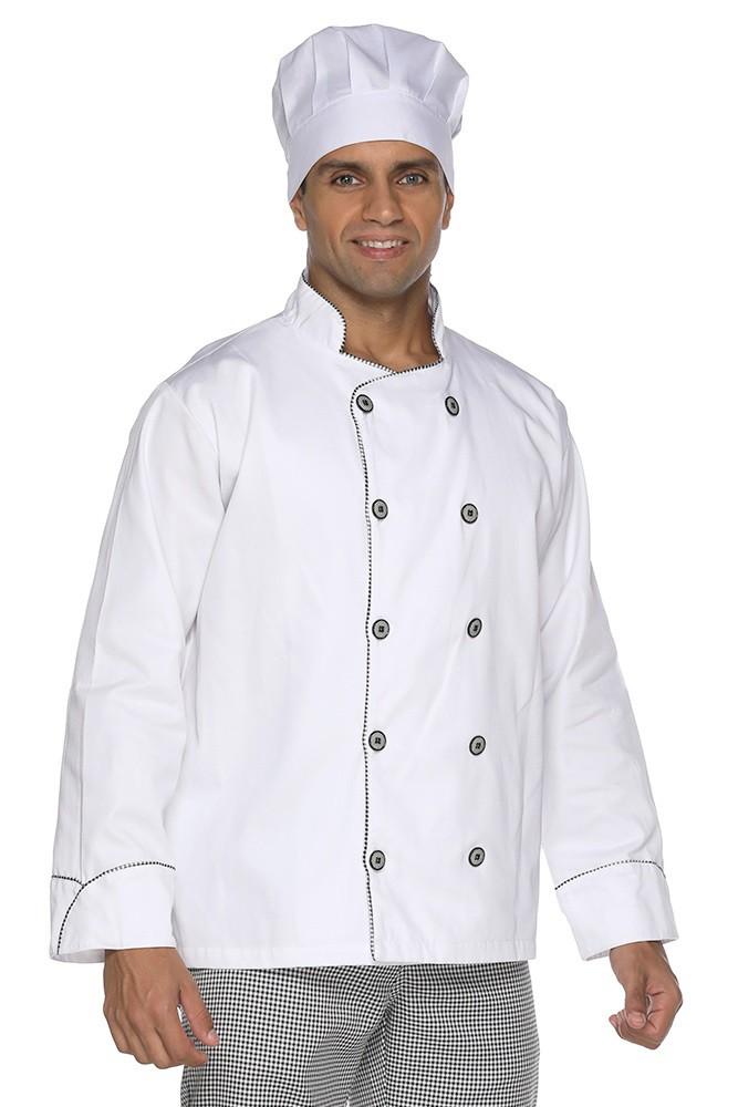 Kit 2 Dolmãs chef cozinha masculino vivo Pied Poule