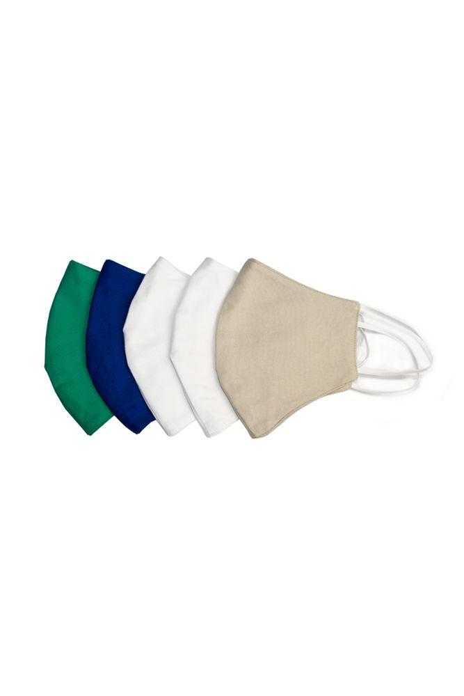 Kit 2 Máscaras anatômica 10 unidades de tecido duplo lavável em Algodão