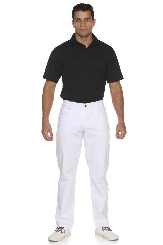 Kit 5  Calças branca masculina
