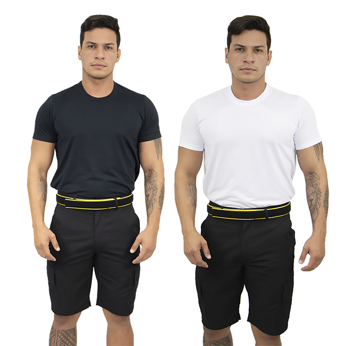 Kit Bermuda Tática + Camiseta Manga Curta