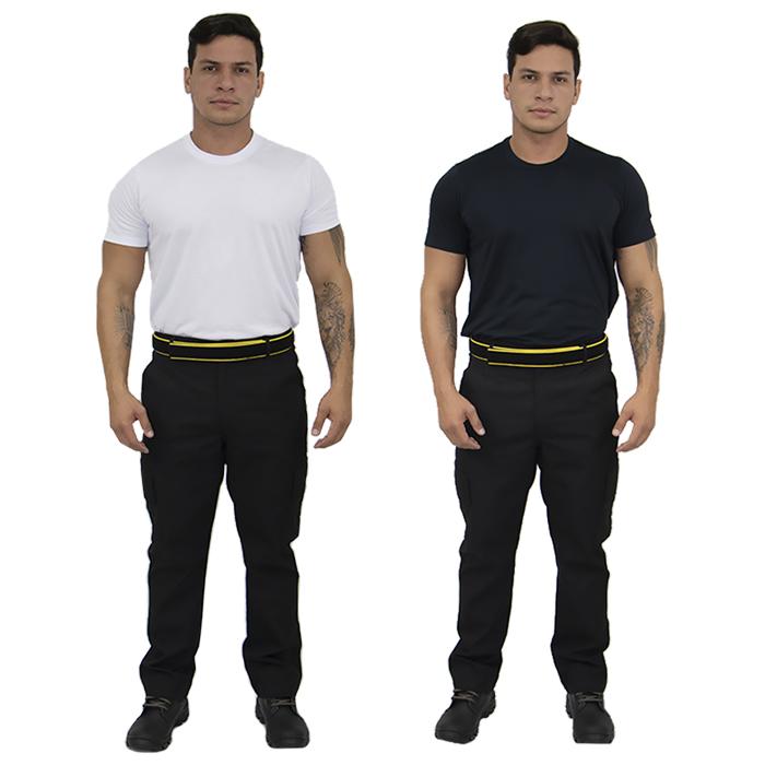Kit Calça Tática Masculina RIP STOP Segurança Vigilante + Camiseta Manga Curta