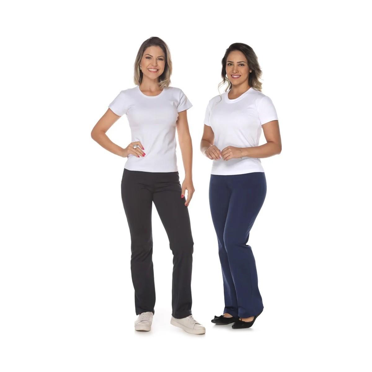 Kit Camiseta Feminina Baby Look  + Calça Bailarina Helanca