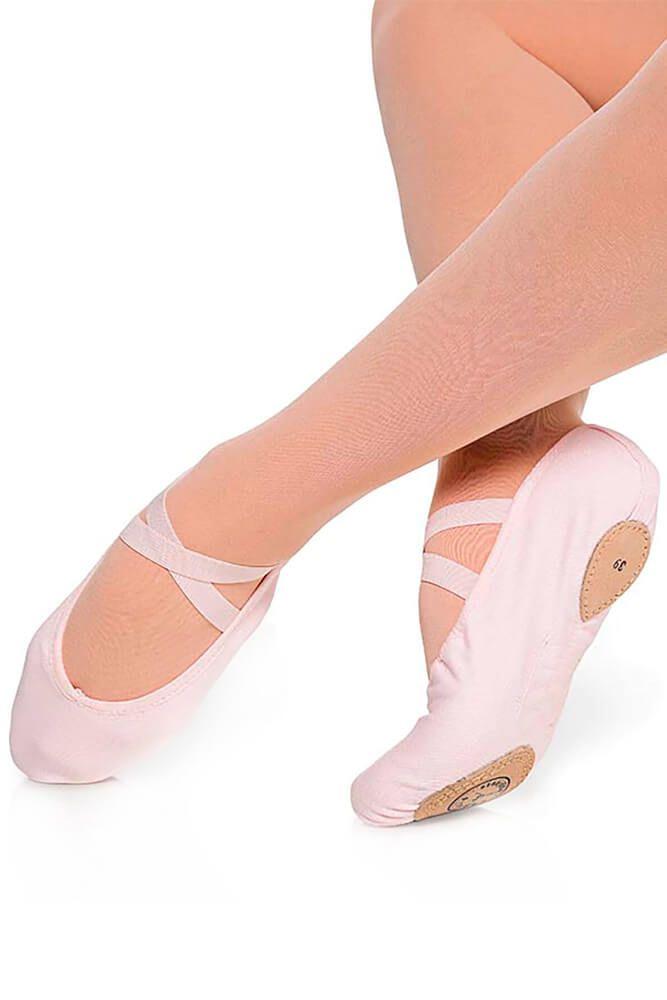 Sapatilha em lona cruzada para Ballet