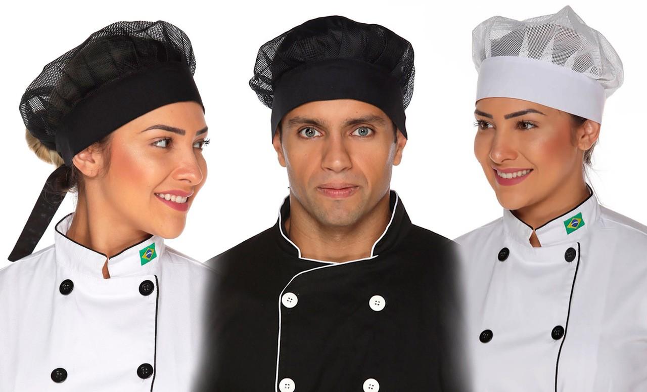 Touca Cozinheiro(a) em rede
