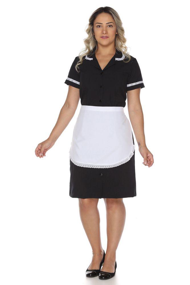 Uniforme de copeira camareira governanta Vestido de Copeira + Avental de Copeira