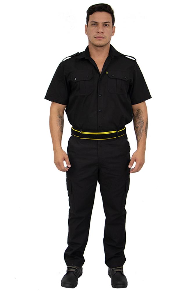 Uniforme Segurança Camisa Tática + Calça Tática Rit Stop cós 1/2 Elástico