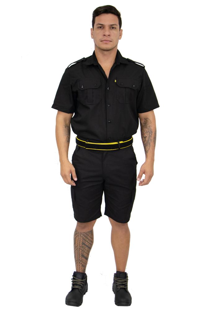 Uniforme segurança vigilante bermuda tática + camisa tática rip stop