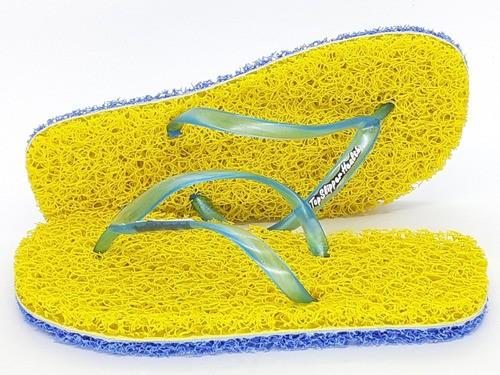 3 Pares Chinelos De Banho Esponja Capacho Anti Derrapante