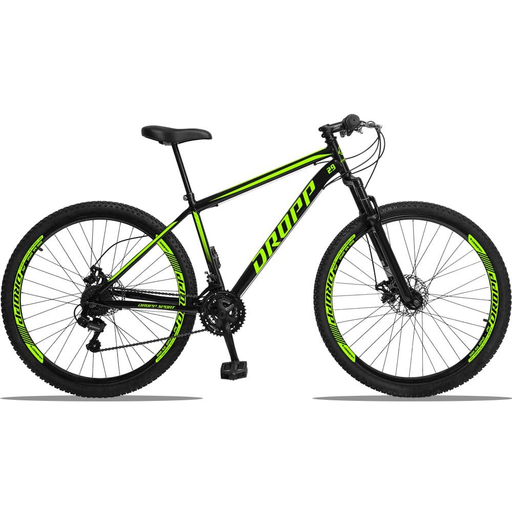 Bicicleta Aro 29 Dropp Sport Aço 21V Freio a Disco e Suspensão