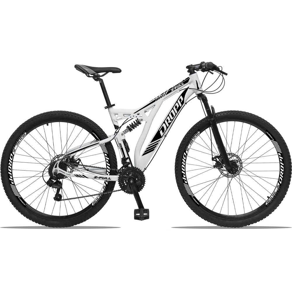 Bicicleta Aro 29 Dropp Z-Full 24 Marchas Freio Hidráulico Suspensão Trava no Ombro Cubo k7