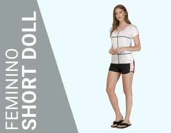 feminino short doll
