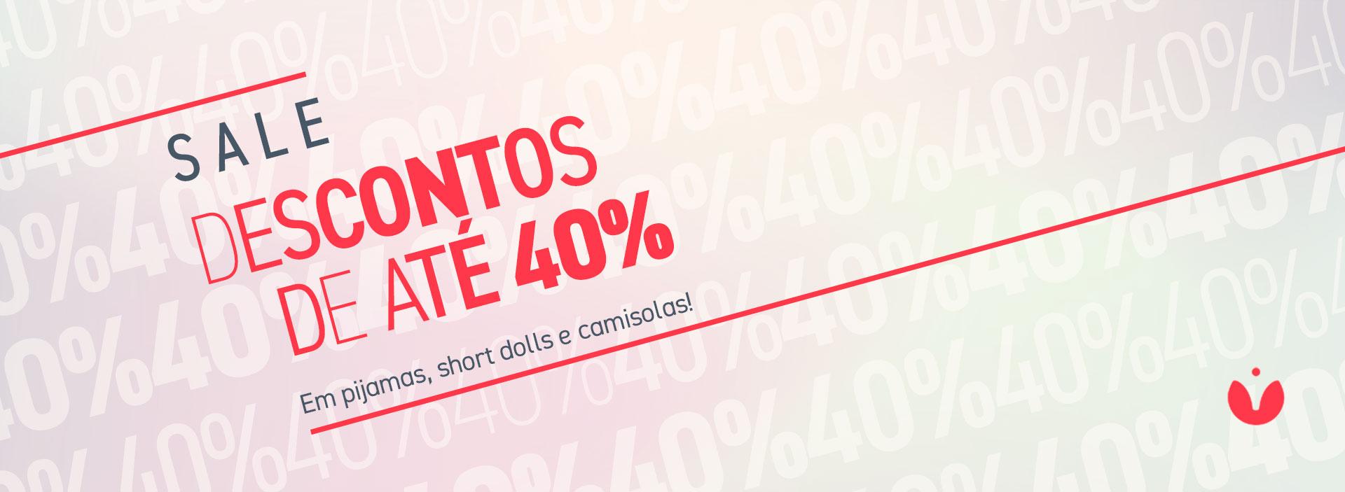 Sale Intimamente. Descontos de até 40% em Pijamas, Short Dolls e Camisolas