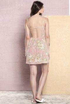 Camisola com Alça Mini de Rosas