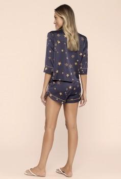 Pijama 3/4 Botões Estrelas