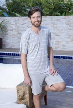 Pijama Curto Masculino Visco com Elastano