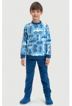 Pijama de Soft Menino Carros de Neve