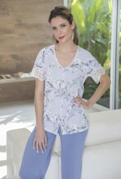 Pijama Feminino com Abertura