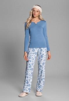 Pijama Feminino Floral Azul