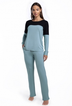 Pijama Feminino Longo com Bolso Cerâmica