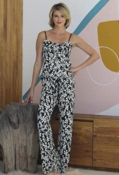 Pijama Feminino Pantalona Alças Belle