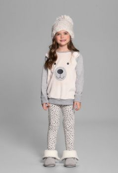 Pijama Infantil Manga Longa Polar Bear