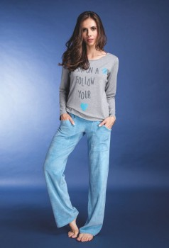 Pijama Manga Longa Calça Plush