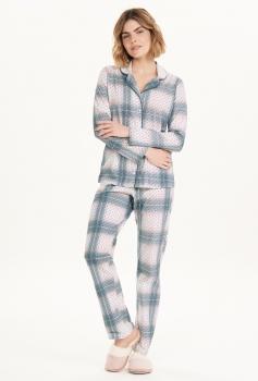 Pijama Manga Longa Com Abertura Feminino