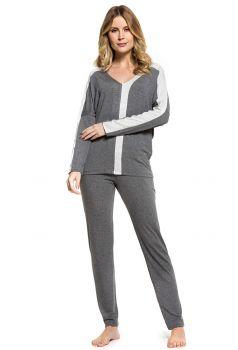 Pijama Manga Longa Feminino Mescla