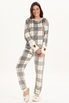 Pijama Manga Longa Fleece
