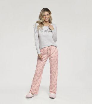 Pijama Manga Longa Gatinho