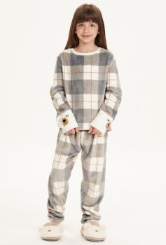 Pijama Manga Longa Infantil Fleece