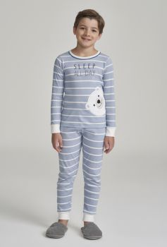 Pijama Manga Longa Infantil Listras