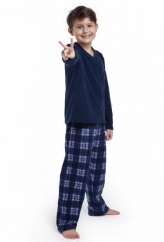 Pijama Manga Longa Infantil Menino Soft Xadrez