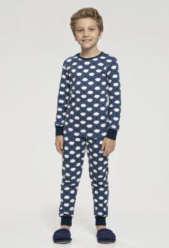 Pijama Manga Longa Infantil Nuvens