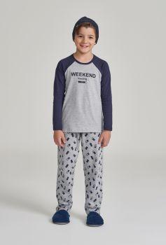 Pijama Manga Longa Infantil Weekend