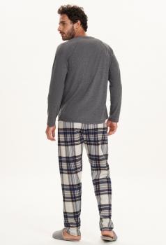 Pijama Manga Longa Masculino Xadrez