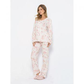 Pijama Manga Longa Soft Cherry Blossom Feminino