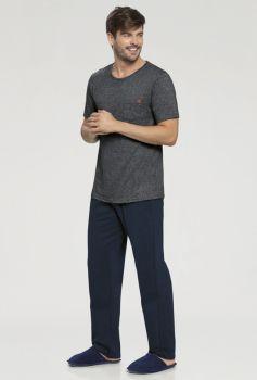 Pijama Masculino Manga Curta e Calça
