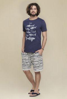Pijama Masculino Sharks