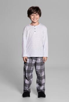 Pijama Menino Manga Longa Xadrez