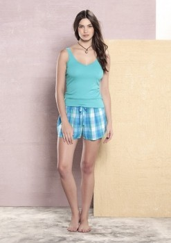 Pijama Short Doll Regata Esmeralda