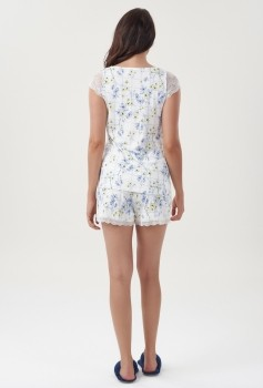 Short Doll Regata Floral Azul